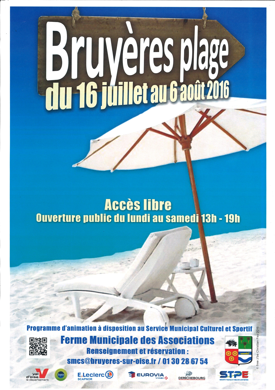 Affiche Bruyères plage 2016